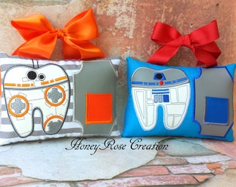 Tooth fairy pillow.R2D2.BB8 tooth fairy pillow. Personalized tooth pillow with chart.