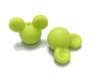 Perle Mickey lime Silicone teether