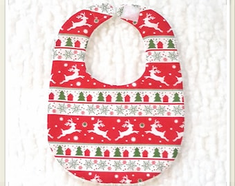 Bib with Christmas red/white/green baby - newborn (0-6 months)