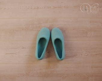 gift for - felted slippers - women hause slipper - natural felt wool slippers