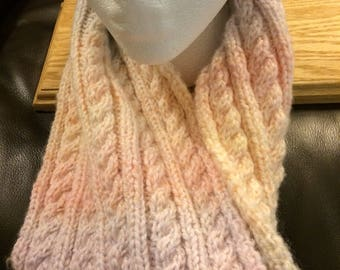 Sunset Cabled Cowl