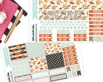 Leaves September Monthly Kit for Happy Planner