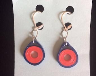 Phish donut, paper quilling jewelry, phish inspired, summer jewelry, boho earrings, lightweight jewelry, phish inspired