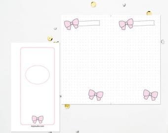 PERSONAL TN Pink Bow Dot Grid