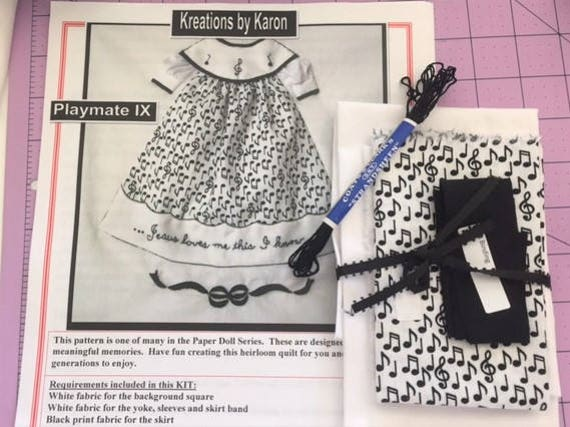 Kreations by Karon Playmate lX. Kit for a quilt square or framed art.