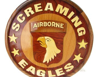 "12"" Handcrafted Wooden Emblem WE16293"