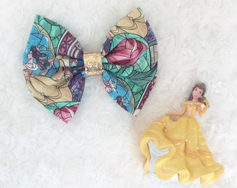 Princess Belle Bow, beauty and the beast bow