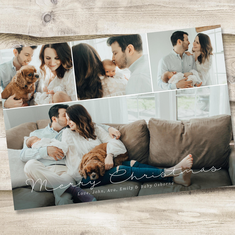 christmas photo card template full xmas card printable rustic