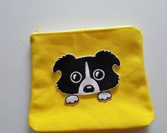 Handmade Peeping doggy pouch