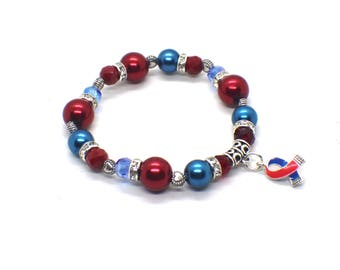Chd Awareness - Chd Mom - Chd Warrior - Chd Awareness Jewelry - Congenital Heart Defect - Congenital Heart Disease - Chd Mom Bracelet - Chd