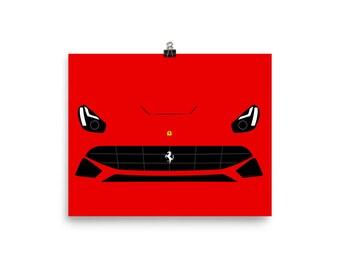Ferrari F12 Art Poster