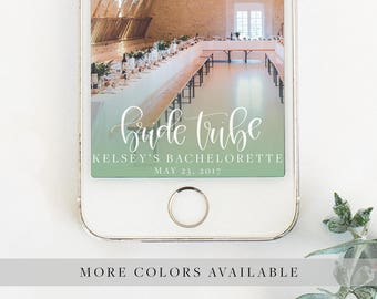 Bride Tribe Handwritten Personalized Calligraphy Snapchat Geofilter for Wedding, Shower, or Engagement Party