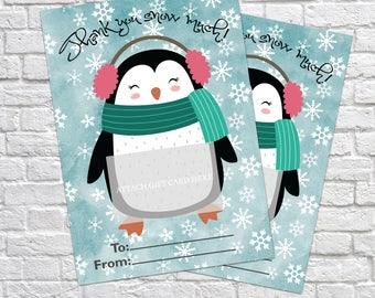 Printable Christmas Gift Card Holder, Thank You Gift Card Holders, Christmas Gift, Christmas Gift Card, Teacher's Gifts, Thank You Card