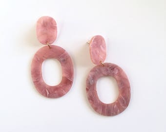 Oversized plastic retro earrings