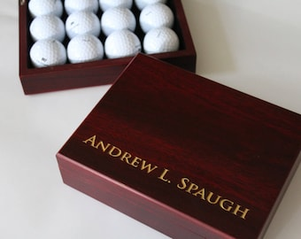 Father of the bride gift - Golf gift for men, Personalized Cigar Box, Gift Box for Brother or Dad