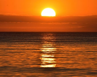 Beach Sunset Premium Original Photograph Print 8 x 10 (Free Shipping!)