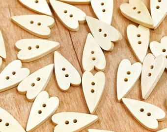 2 hole cute wood buttons, wooden sewing buttons , crafts, scrapbook 10 or 20 buttons