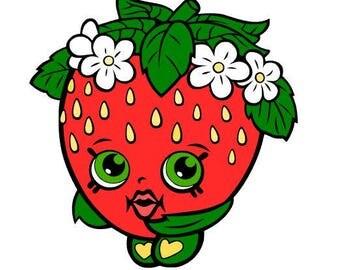 Strawberry Kiss Svg, Shopkin Svg File, Svg Cutting File, Svg Cut File, Svg For Silhouette, Svg For Circut, Shopkin Svg Clipart