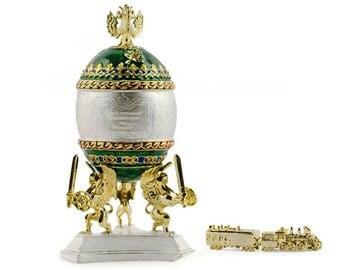 1900 Trans-Siberian Railway Russian Faberge Egg