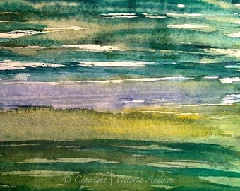 GOD'S GREEN EARTH Limited Edition Watercolor Print by Victoria Anderson