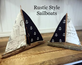 Reclaimed Wooden Sailboats