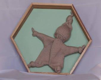 Beige Pixie toy in thier handmade