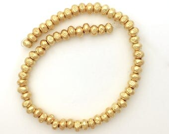 Thai Silver Hand Stamped Vermeil Beads Jewelry Making Supplies Gold Karen Hill Tribe Sundance Style Bohemian Beading Supplies Precious Metal