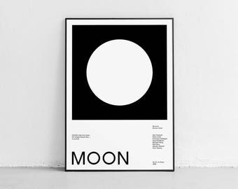 Moon. Fan art movie poster. Wall art. High quality giclée print. signed by designer.