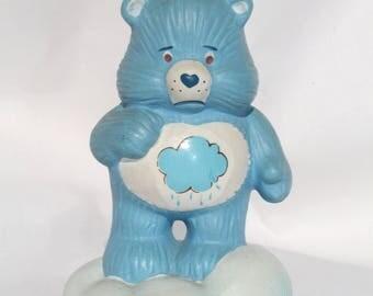 Vintage Care Bears Grumpy Ceramic Figurine Designer Collection