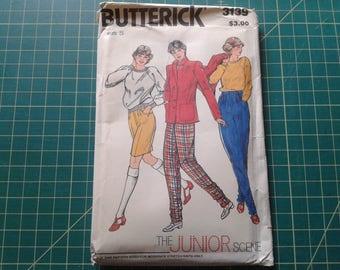 Juniors Pattern for Moderate Stretch Knits, Jacket, Sweatshirt, Pants, Shorts, Butterick 3139, size 5, waist 22.5, bust 30, hips 32