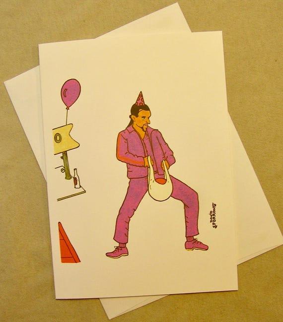 The big lebowski birthday card the jesus shines regular size like this item bookmarktalkfo Gallery