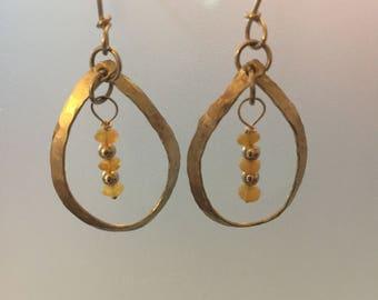 Sterling Silver and ethiopian opal dangle earrings
