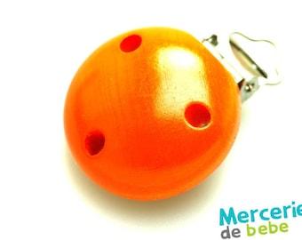 Clip, clip, pacifier clip-wood - Orange