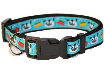 Teddy bear blue size L collar for large dog,