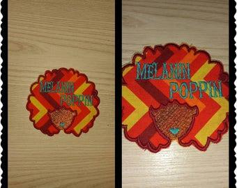 Melanin Poppin Applique (Customizable)