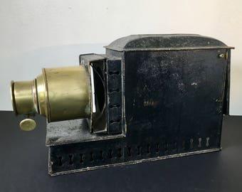 Antique Victorian Magic Lamp, Magic Lantern, Decorative Industrial Object, Goth, Steampunk, Industrial Decor
