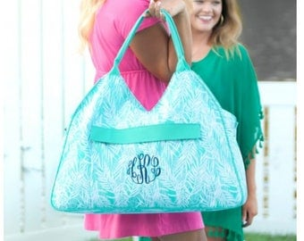 Monogrammed beach bag, pool bag, summer tote
