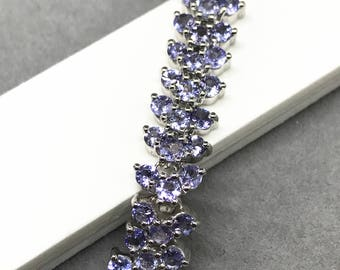 925 Silver Natural Tanzanite Bracelet, Appraised 1,327 USD
