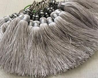 Made of light grey braided silk tassel