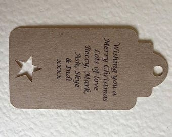 10 Christmas gift tags personalised