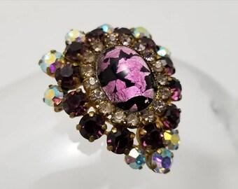 AUSTRIA Purple Glass Pin