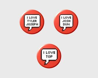"TYLER JØSH ""I LOVE"" Pixel Button+ (Select Style/Choice)"