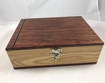 Wooden Keepsake Box, Wood Memory Box