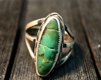 Navajo Vintage Turquoise/ Sterling Silver Ring  #090