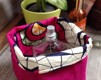 "Small basket / Organizer / storage basket ""Wax Fuchsia"""