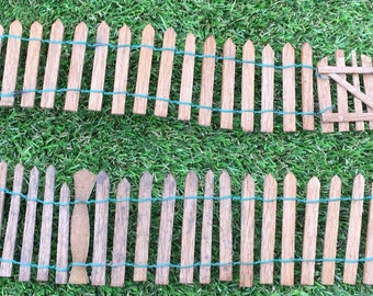 Fairy wooden picket fence