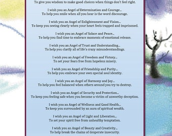 Angelic Energy Wishes - Printable Poetry Instant Download
