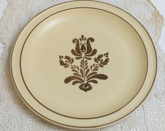 Vintage Dinner Plate in Village (Made in USA) by Pfaltzgraff