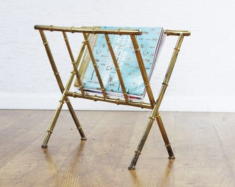 Jacques Adnet style magazine rack