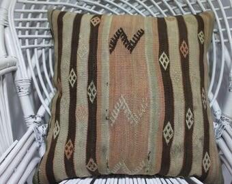 "20x20"" pillow cover knit 20 x 20 handmade cushion cover bohemian pillow covers 20x20 kilim pillow cover 20x20 outdoor pillow 2038"